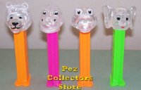 Colorless Clear Crystal Kooky Zoo Pez Set of 4 Pez Offer 70