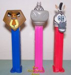 Madagasgar Pez Set of 3 original variations Loose!