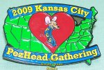 2009 KC PezHead Gathering Lapel Pin number 1