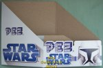 Clone Wars Star Wars Pez Counter Display 12 count Box