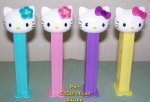 European Hello Kitty Pez Pastel Bows and Hawaiian Flower