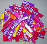 1 full lb Pez Candy Refill rolls, various flavors
