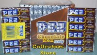 6 rolls of Chocolate Pez Candy in 12 ct box (72 rolls) Refills