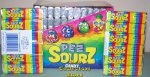 6 rolls of Sourz Pez Candy in 12 ct box (72 rolls) Refills