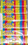 1 package of 6 rolls of Sourz Flavor Pez Candy Refills