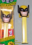 Wolverine Pez from X-Men on Yellow Stem MIB