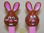 Bucktooth Chocolate Bunny Pez 2010 Easter Series MIB