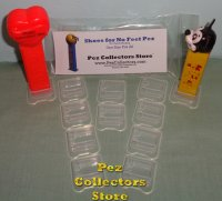 10 Wide Clear PCS Shoes for Pez - One Size Fits All