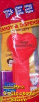 1999 HVD Heart Pez Neon Red on Neon Red MIB