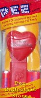1996 Original Happy Valentines Day Heart Pez Red on Red MIB