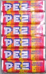 Old 1 Piece Assorted Fruit Pez 6 roll Cello Pack