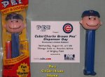 2002 Chicago Cubs Charlie Brown Pez MIB with Commemorative Card