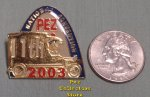 2003 St. Louis 11th ANPC Paddy Wagon Pez Lapel Pin