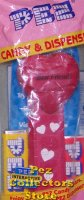 2005 Best Friends Heart Pez Maroon printed stem MIB