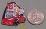 2008 St. Louis 16th ANPC Red Corvette Convertible Lapel Pin
