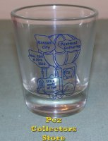 2010 KC PezHead Gathering Shot Glass