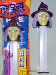 2011 Halloween Witch F Pez with Purple Hat GITD Stem MIB