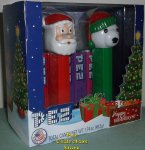 Retired 2013 Happy Holidays Pez Gift Set Santa Christmas Bear