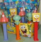 2014 SpongeBob Pez Set - SpongeBob, Patrick and Squidward