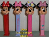 2015 Minnie Bowtique Pez Set of 4 European Pez
