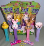 2018 Easter Pez Set - Mr and Tan Bunny, Lamb, Ducky MIB