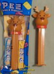 2018 Christmas Reindeer Pez with Red Collar and Bell MIB
