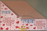 2019 Happy Valentines Day Pez Counter Display Box with Hearts