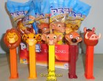 2019 Lion King Pez Set Mufasa, Simba, Nala, Pumbaa, Timon MIB