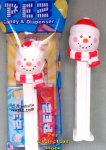 2019 Beanie Cap Snowman with Red and White Scarf Pez