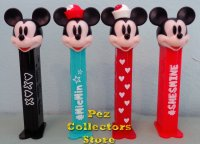 2021 European Mickey and Minnie Hashtag Set of 4 Pez