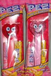 2021 Valentine Pez Heart Silly and Happy Lighter Variations MIB