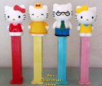 Loose 40th Anniv. Full body Hello Kitty, Mama, Papa, Mimi Pez