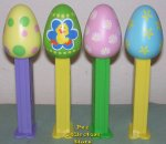 2013 set of 4 Easter Egg Pez Loose