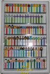 Covered Customizable Pez Wall Display - Six Shelf Adjustable