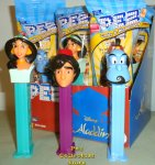 Disney Aladdin, Jasmine and Genie Pez Set
