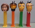 Bee Movie Pez Set of 4 Loose