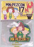 2012 MN PezCon 17th Convention Lapel Pin Green Background