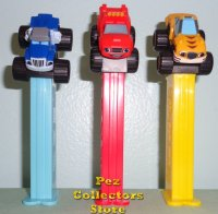 European Blaze, Crusher and Stripes Monster Truck Pez Loose
