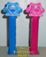 Loose Blue and Magenta Pez from Blues Clues