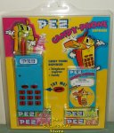 Blue and Yellow Electronic Pez Telephone With Phone Registry