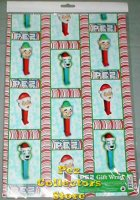 Christmas Pez Gift Wrapping Paper, 2 sheets per Pkg