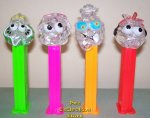 Clear Colorless Crystal Sourz Pez Set of 4 Pez Offer 410