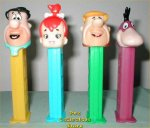 Complete Set of Discontinued Flintstones Pez! Yabadabadu!