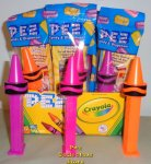 Crayola Crayon Pez - Orange, Pink and Purple MIB
