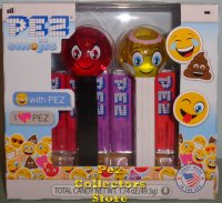 Revised Crystal Angel and Devilish Emoji Pez Twin Pack