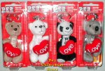 2007 Cuddle Cubs Set of 4 Plush LOVE Pez Petz