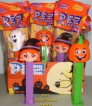 2018 Cute Witch and Happy Pumpkin and Candy Corn Pez MIB