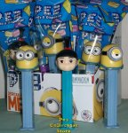 Despicable Me Pez set Minions Dave, Stuart and Agnes