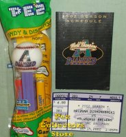 Arizona Diamondbacks Promo Baseball Pez MIB w ticket and schedul