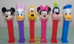 Disney Classic Mickey Mouse Pez Set of 6 Loose